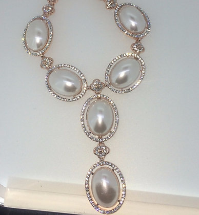 Rose Gold Plated Pearl Necklace