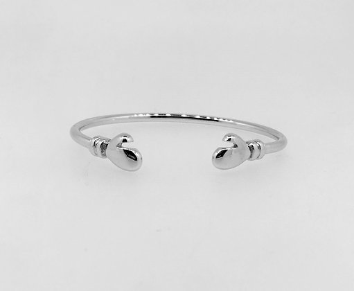 S/Silver Boxing Glove Baby Bangle