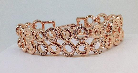 Cristallo Rose Gold Plated Bracelet