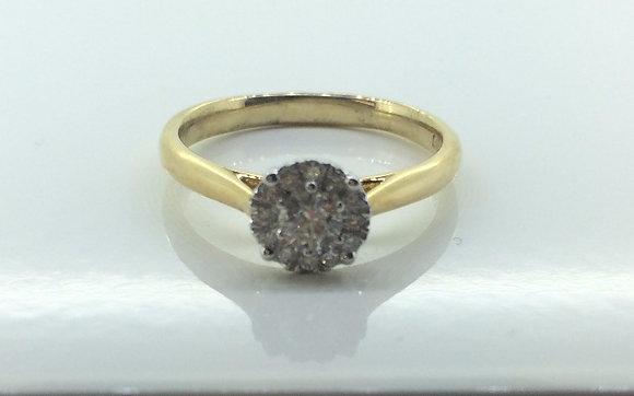 9ct Yellow Gold Round Engagement Ring