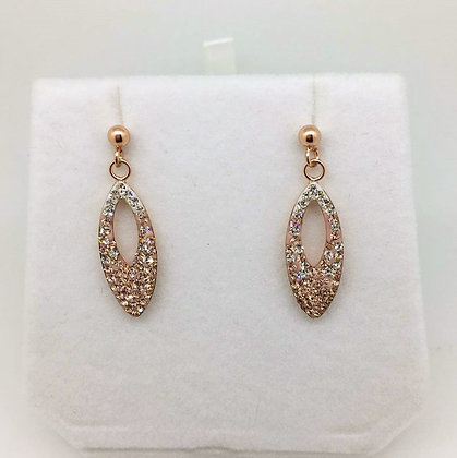 Sterling Silver Rose Gold Earrings