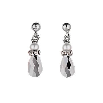 Swarovski Black Pearl Earrings
