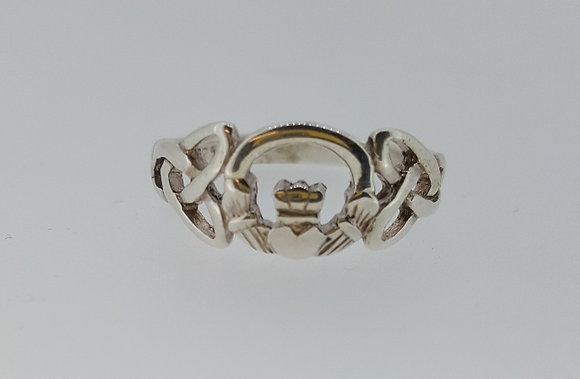 Sterling Silver Claddagh Ring with Irish design