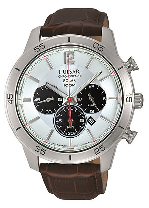 Brown Leather Sports Watch