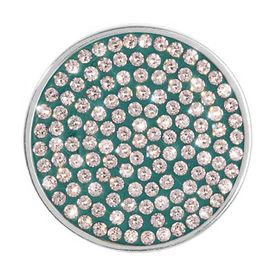 Green Swarovski Coin