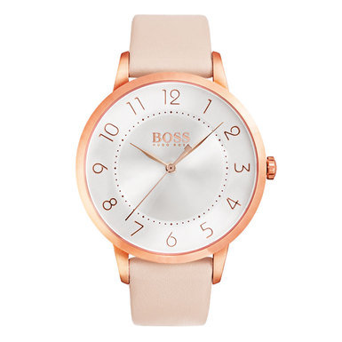 Hugo Boss Eclipse Rose Gold Tone Pink Leather