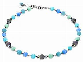 Swarovski crystalsn & agate blue-green necklace