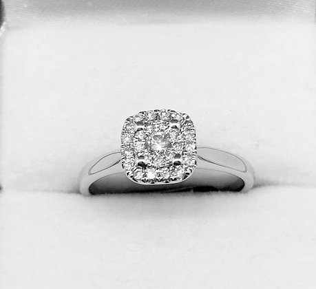 9ct White Gold Diamond Engaagement