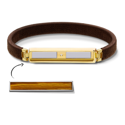 Boho Brown and Gold Bracelet Without Bar