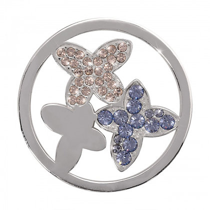 Silver Plated Butterflies