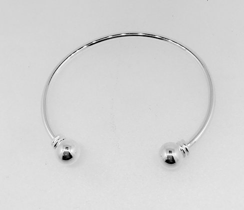 Sterling Silver Baby Ball Bangle
