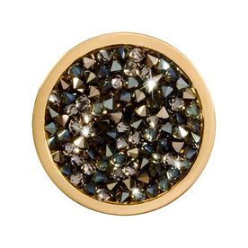 Black and Topaz Rock Crystal