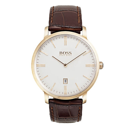 Hugo Boss Men's Tradition Watch Brown Leather