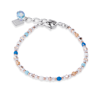 Bracelet Swarovski Crystals & stainless steel aqua- blue