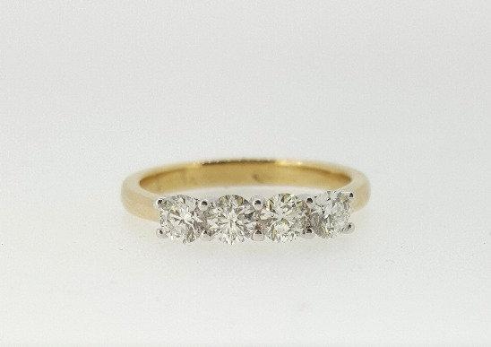 18ct Four Stone Diamond Engagement Ring