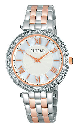 Two-tone Rose Gold and Silver Pulsar watch