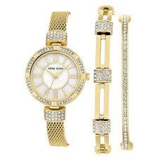 Anne Klein Gold Toned Watch Set