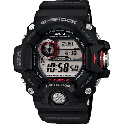 Black and Red Detailed G-Shock Land Watch