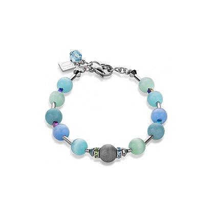 Swarovski crystalsn & agate blue-green bracelet