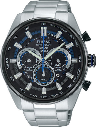 Silver Pulsar Watch With Blue Detail From WRC