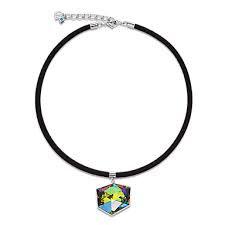 Necklace Swarovski Crystals & Mesh Multicolour