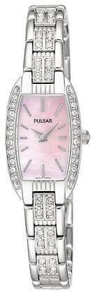 Silver Pulsar Watch with Swarovski Crystals
