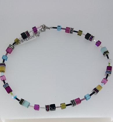 Multi-coloured Coeur De Lion Necklace