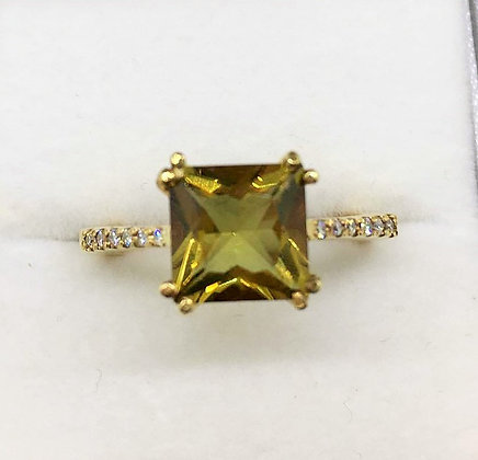 9ct Yellow Gold Diamond Zultanite Ring