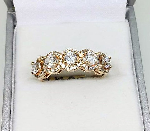 Sterling Silver Rose Gold Plated Ring
