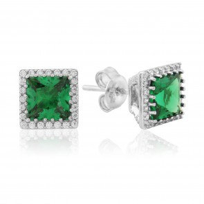 Waterford Square Emerald Studs