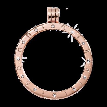 Rose Gold Pendant with 12 Swarovski Stones