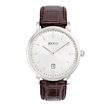 Hugo Boss Tradition Men's Watch Brown Leather