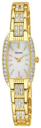 Gold Pulsar Watch with Swarovski Crystals