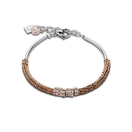 Rhinestone & Haematite Brown Bracelet