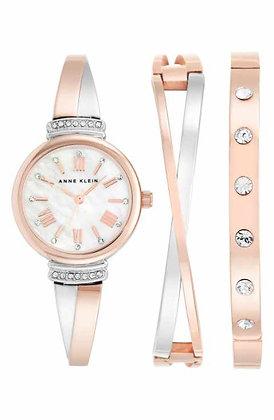 Anne Klein Rose Gold Watch Set