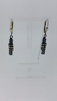 Black Coeur De Lion Earrings