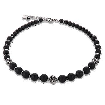 Black Matte Rhinestone Necklace