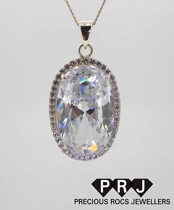 Large Sparkling Pendant Necklace