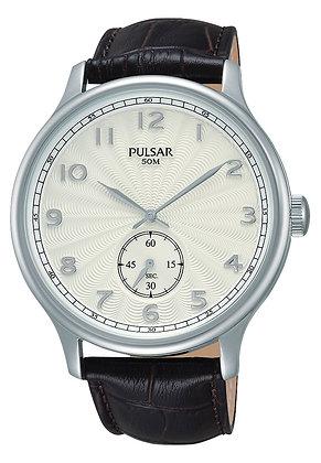 Dark Brown Leather Pulsar Watch