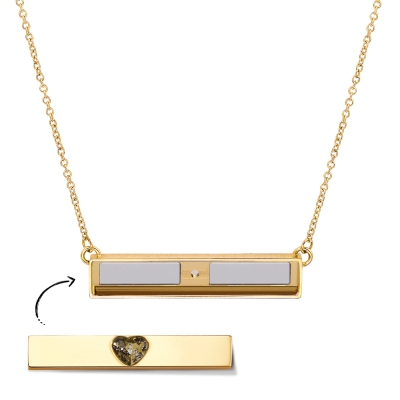 Gold Toned Necklace Without Bar