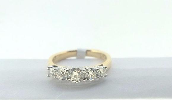 18ct Five Stone Diamond Engagement Ring