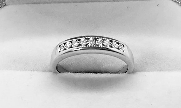 9ct White Gold Diamond Wedding Band