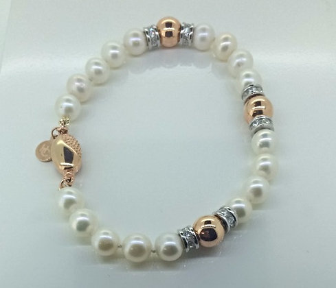 Helen Cui Pearl and Rose Gold Bracelet