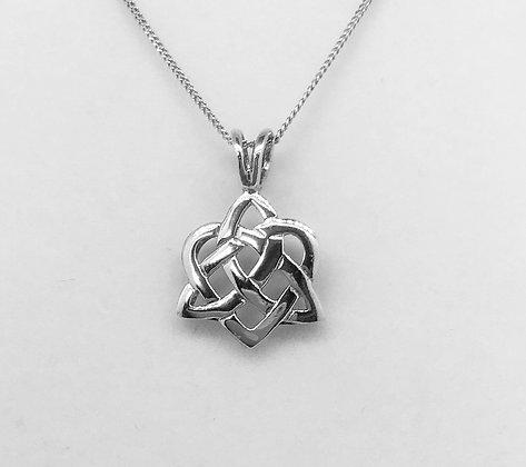 Trinity Knot Heart Pendant