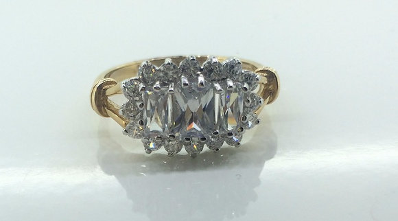 9ct Cluster Engagement Ring
