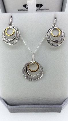 Sterling Silver Pendant Set