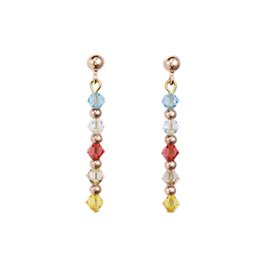 Swarovski Crystals & stainless steel Earrings with stickpin