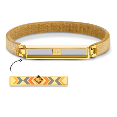 Boho Champagne and Gold Bracelet Without Bar