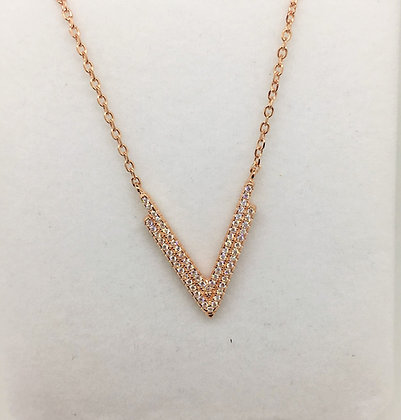 S/Silver Rose Gold Plated Pendant