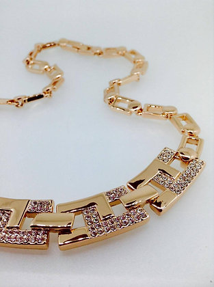 Cristallo Rose Gold Plated Necklace
